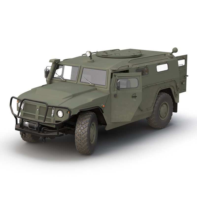 russian mobility vehicle gaz 3d max