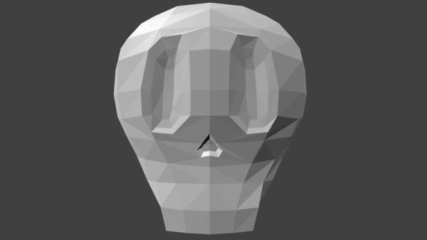cartoon skull 3ds