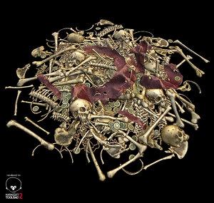 3d bone pile ready model