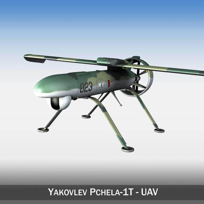 - pchela-1t uav russian c4d