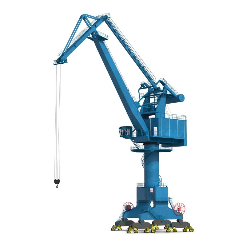 max wqq port crane rigged