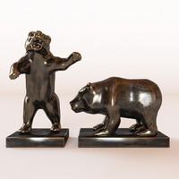 3d model 2 bear s figure