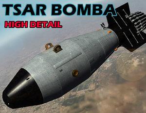 nuclear bomb tsar bomba 3d obj