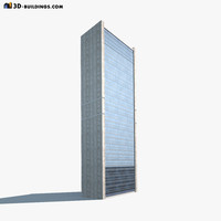 Skyscraper #1 Low poly 3d Model
