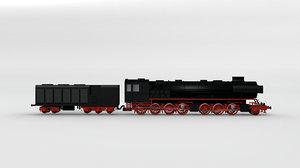 german steam locomotive 3d 3ds
