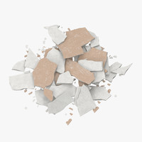 broken sheetrock 01 - 3d model