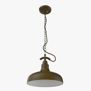 3d scandinavian khaki chandelier model