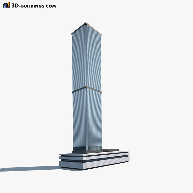 high-rise building modelled 3d max