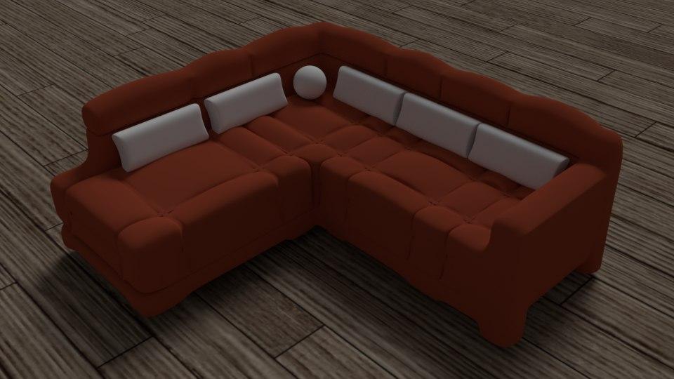 3d model elegant sofa