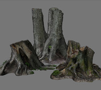 3d treestumps stump model