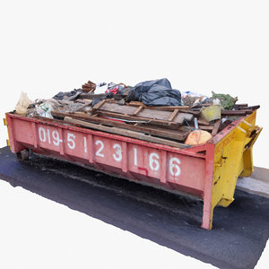 3d model photoscaned dumpster