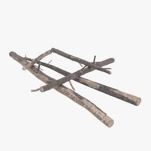 fallen logs pine 01 max