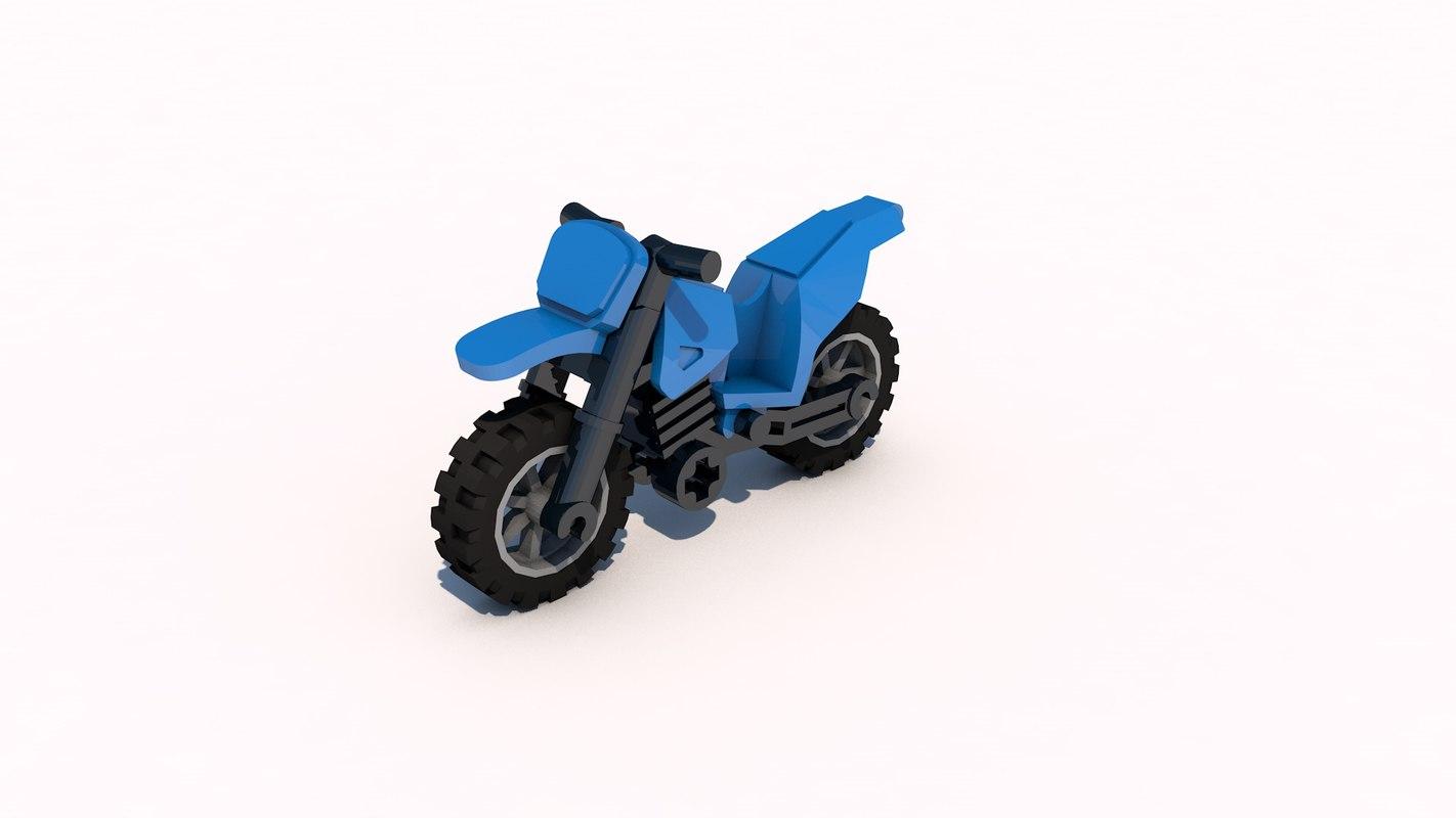 lego motorcycle 3d model