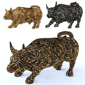 bull figure 3d model