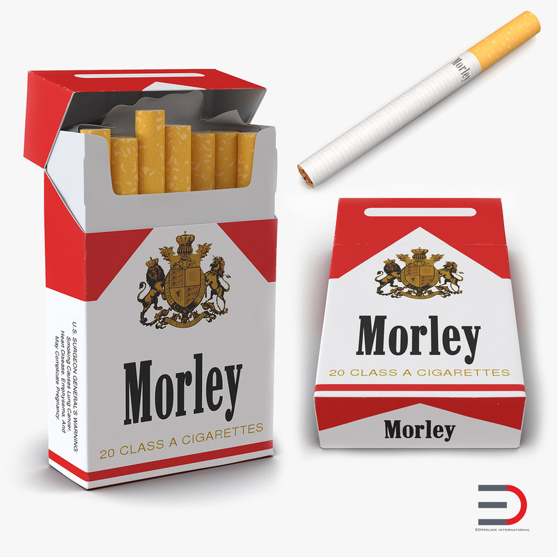 3d model cigarettes morley