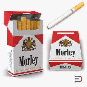 3d model cigarettes morley