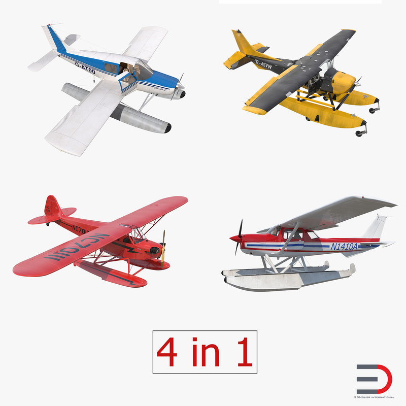 seaplanes rigged 2 3d model