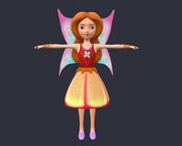 3d angel character model