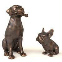 Dogs statuette
