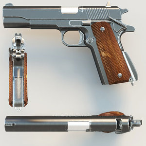 3d model pistol colt1911