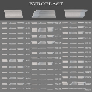 3d model ceiling cornices evroplast