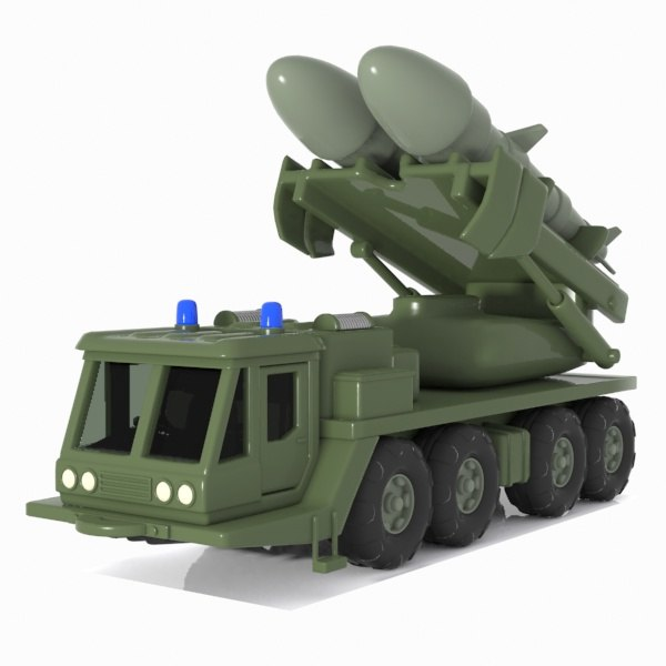 3d cartoon missile vehicle
