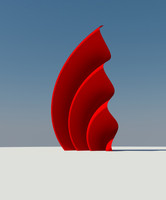 3d model sculpture wave