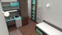 3d model student apartment bedroom