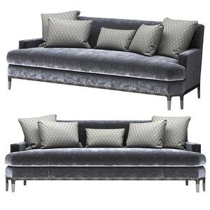 baker celestite sofa 6179s 3d model