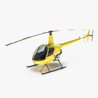 Helicopter Robinson R22 Yellow