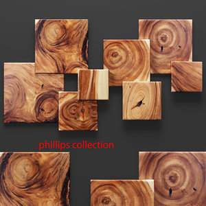 3d model square standout wall art