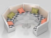 3d sofa table model