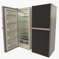 3d fridge interior blender model