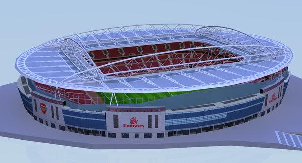 3d emirates stadium football