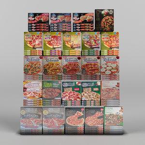 3d pizzas model