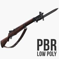M1 Garand Low Poly