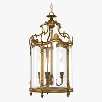 Empire Lantern in French gold finish