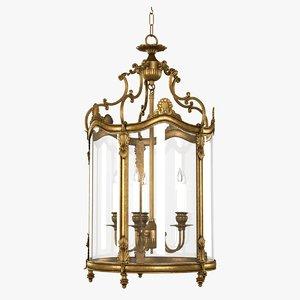 3d model chandelier empire lantern french