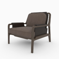 3d model caste fergus lounge chair