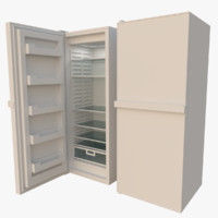 fridge interior blender 3d model