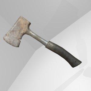 3d rusted hatchet model