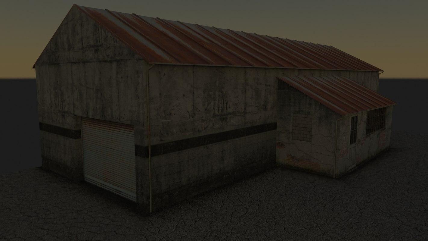 zone industrielle 3d model