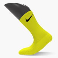 Nike Sock + Foot Model