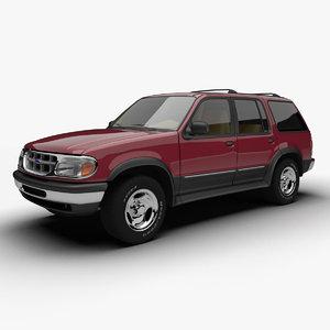 3d model 1994 explorer