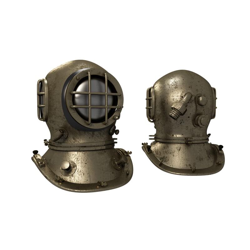 vintage helmet obj