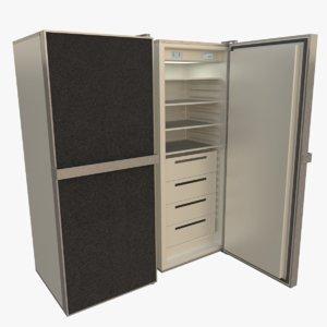 3d model freezer interior blender