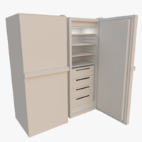 freezer interior blender 3d obj