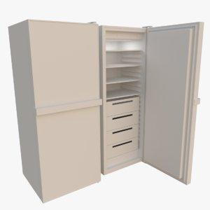 freezer interior blender 3d obj