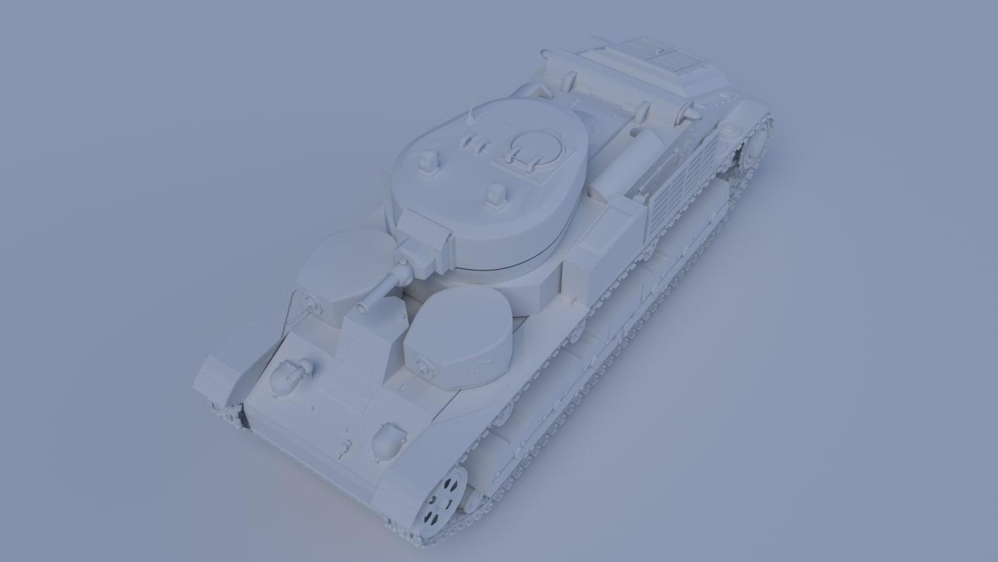 3d model tank t-28