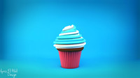 cupecake cupcake 3d model